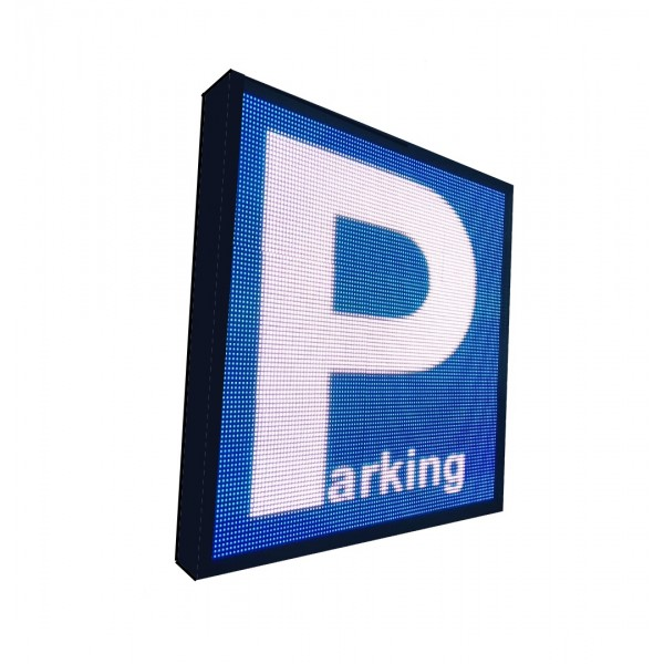 LETRERO LED PROGRAMABLE PARA PARKING RGB 2 CARAS