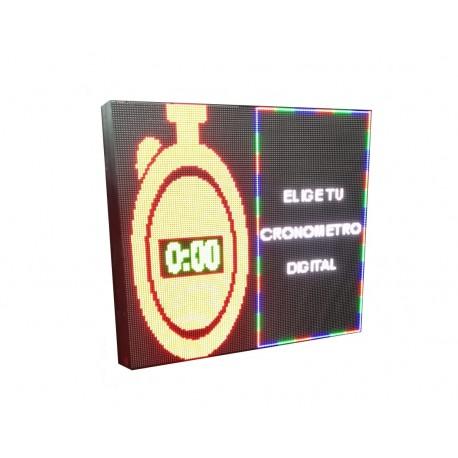 LETRERO LED PROGRAMABLE CRONÓMETRO DIGITAL 2 CARAS