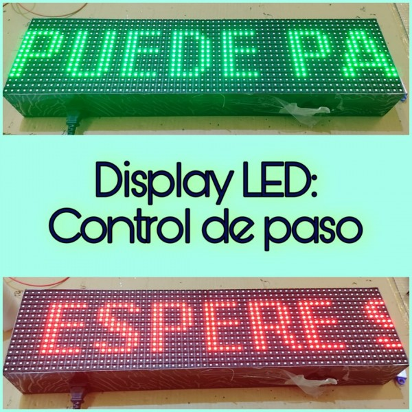 LETRERO LED PROGRAMABLE EN RGB, 1 CARA. DISPONIBLE EN VARIOS TAMAÑOS