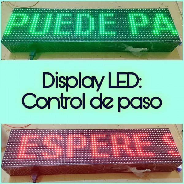 LETRERO LED PROGRAMABLE PARA EL CONTROL DE ACCESO RGB, 1 CARA. DISPONIBLE EN VARIOS TAMAÑOS. INCLUYE MANDO DE CONTROL.