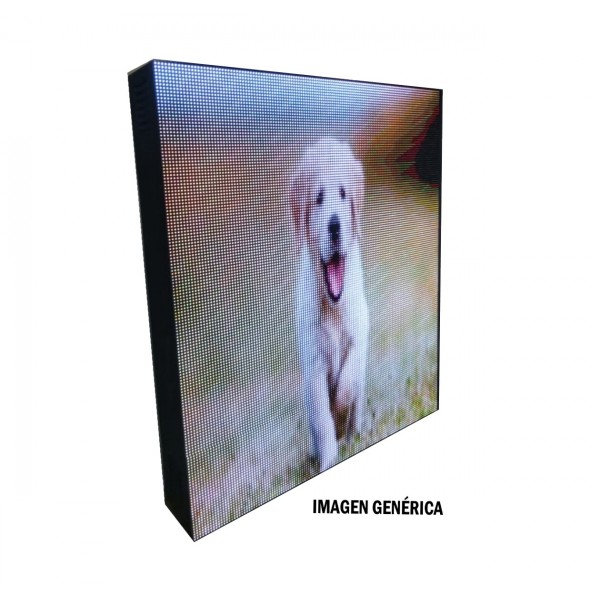 BANDEROLA LED PROGRAMABLE FULL COLOR P10 DOBLE CARA 64X64CM